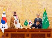 ولي العهد والرئيس الكوري يشهدان التوقيع على مذكرات تعاون