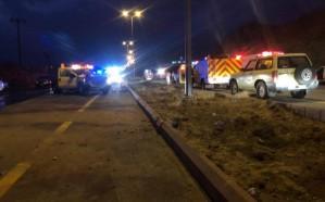 مصرع طفل وإصابة 4 أشخاص في حادث مروع بالباحة