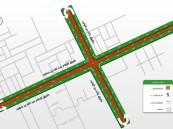 إغلاق تقاطع طريقي الإمام عبدالله بن سعود وخالد بن الوليد بدءاً من هذا الموعد