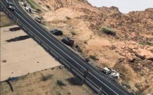 مصرع 3 أشخاص إثر تصادم 6 مركبات على طريق بيشة – خميس مشيط
