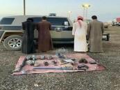 ضبط صيادين بحوزتهم أسلحة غير مصرحة بالحدود الشمالية