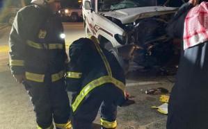 مصرع 3 أشخاص في حـادث مروع بين مركبتين ببريدة