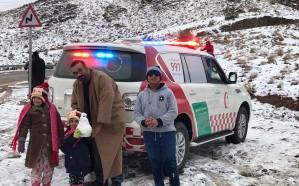 الهلال الأحمر ينفذ خطته في التعامل مع تساقط للثلوج وهطول الأمطار بتبوك