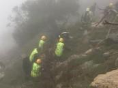 مصرع تسعيني إثر سقوط مركبته من منحدر جبلي في بلجرشي