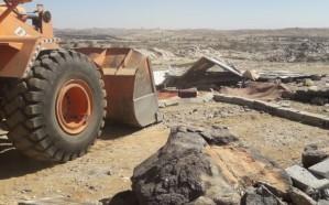 ضبط تعديات على أراضي حكومية بموقعين في خميس مشيط