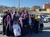 ثانوية الخليج بالطائف تزور معرض السلامة المرورية بجوري مول