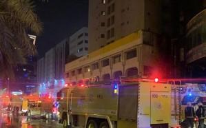 فيديو.. حريق هائل في أحد الأبراج على طريق الملك فهد بالرياض