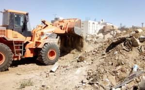 بلدية أم سرار الفرعية تعالج ظاهرة التلوث البصري داخل الأحياء