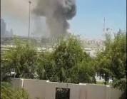 شاهد.. تصاعد أدخنة من مبنى القيادة العامة للجيش في قطر