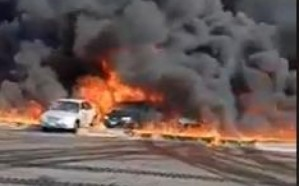 شاهد.. حريق هائل بأنبوب للمواد البترولية في مصر