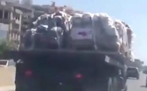 """شاهد.. الجيش اللبناني ينقل المساعدات """"القطرية"""" لجماعة حزب الله بجنوب لبنان"""