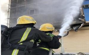 فيديو.. اندلاع حريق  بمبنى سكني بالحي الأخضر في بريدة