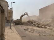 إزالة عدد من العقارات لتوسعة شارع الإذاعة جنوب جدة