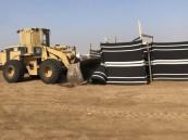 إزالة 47 مخيماً عشوائياً ومبنى مخالف تعدى على حديقة بجدة