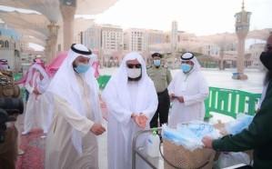 السديس يتفقد تطبيق الإجراءات الاحترازية والتدابير الوقائية بالمسجد النبوي