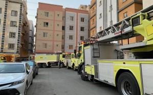 اندلاع حريق بشقة سكنية بحي الواحة شمال جدة