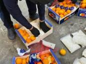 """إرسالية """"برتقال"""" تحتوي على أكثر من 4.5 مليون حبة كبتاجون"""