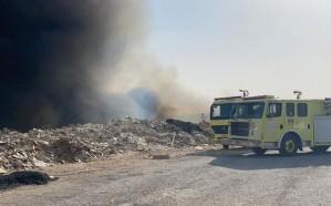 نشوب  حريق في حشائش بأحد الأودية بالرياض