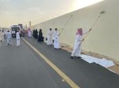 بلدية خميس مشيط تطلق مبادرة طمس كتابات الجدران