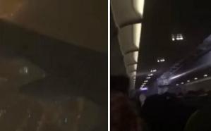 شاهد.. لقطات مرعبة من داخل طائرة كانت في طريقها إلى القصيم