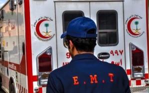 مصرع طالب إثر حادث انقلاب سيارة شمال الليث