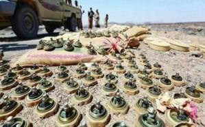 صعدة: الفرق الهندسية للجيش الوطني تفكك عشرات الألغام في البقع