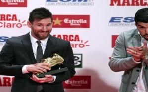 ميسي يتسلم جائزة الحذاء الذهبي الأوروبية