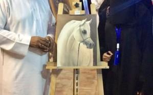 ملتقى الخيل العربي والفن التشكيلي بالجبيل الصناعية بمربط القناص