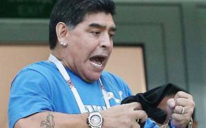 شاهد.. رد فعل مؤثر لمارادونا بعد خسارة الأرجنتين