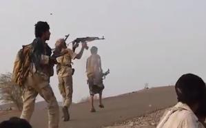 """شاهد..  لحظة تحرير جبال """"فضحة"""" من ميليشيات الحوثي في البيضاء"""