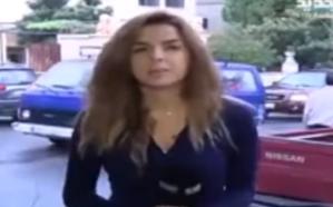 مذيعة لبنانية تخلع سترتها دون أن تنتبه أنها على الهواء