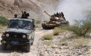 الجيش اليمني يقصف موقعًا للانقلابيين في البيضاء