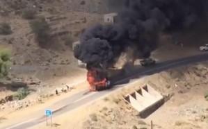 تضرر منزل وثلاث سيارات ومحول كهرباء في سقوط مقذوف عسكري من الأراضي اليمنية على محافظة الطوال