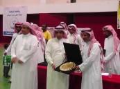 تحت شعار ( رياضتنا توحدنا ) الشنيبر يتوج مدرسة المواهب بكأس معلمي غرب الرياض لكرة القدم