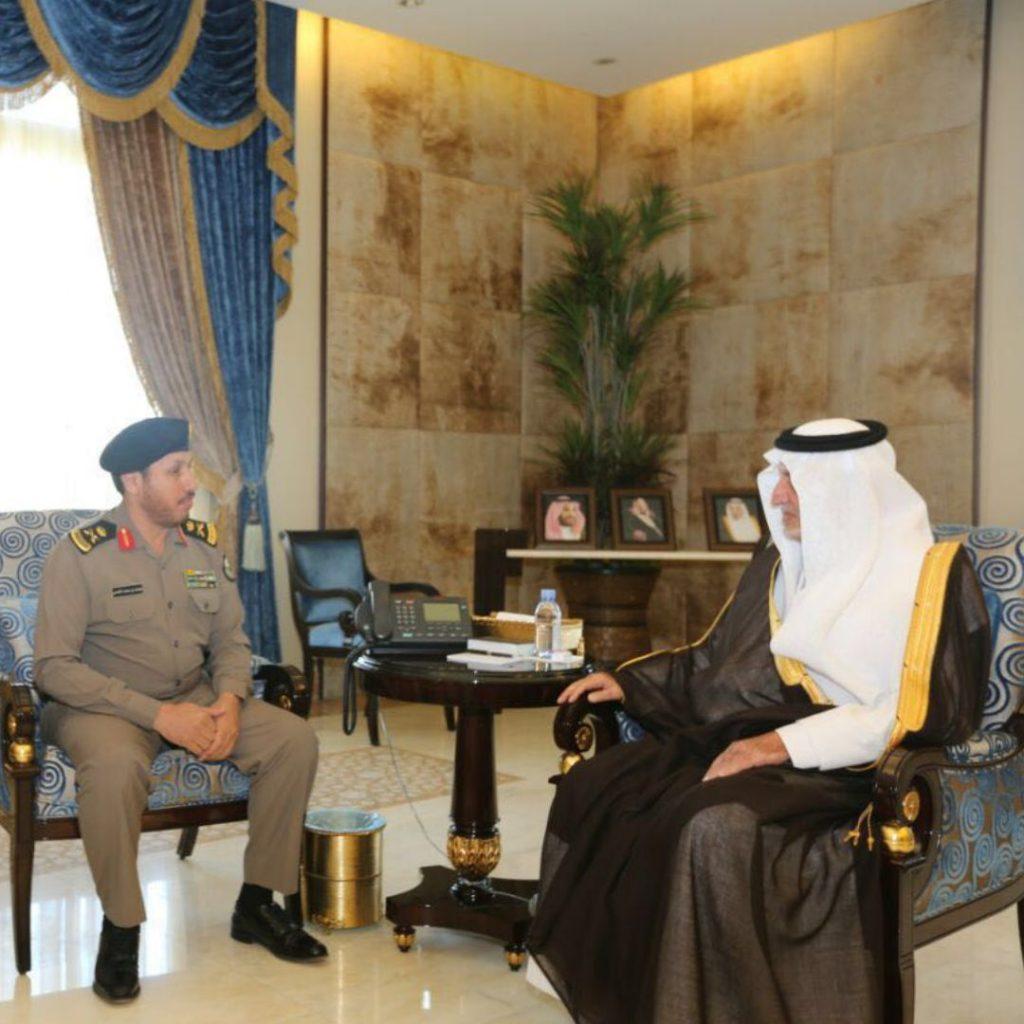 أمير مكة يستقبل اللواء الغامدي