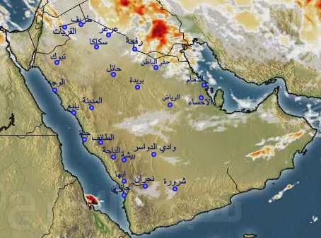 توقعات طقس الجمعة.. أمطار وغبار على 12 منطقة بالمملكة
