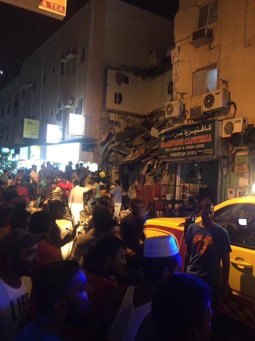 إصابة نحو 20 شخصًا بجروح في انهيار مبنى سكني بالبحرين