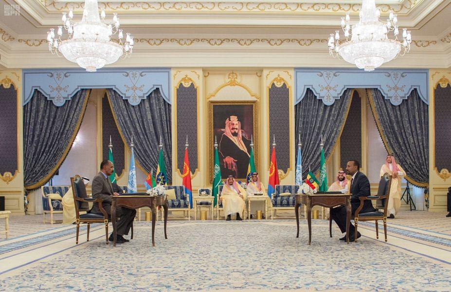برعاية خادم الحرمين.. توقيع اتفاقية جدة للسلام بين إريتريا وإثيوبيا