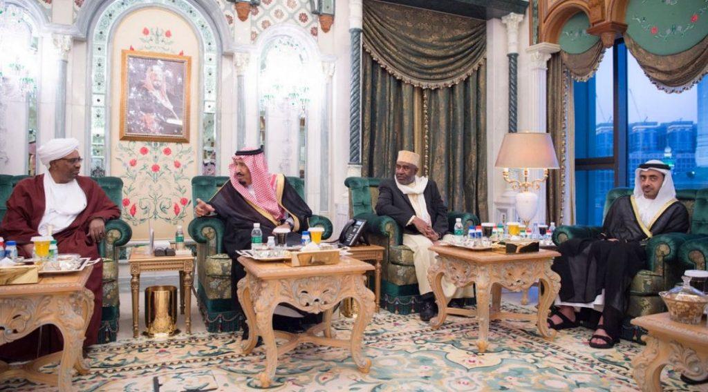 خادم الحرمين يستقبل رؤساء القمر والسودان والجابون ووزير الخارجية الإماراتي