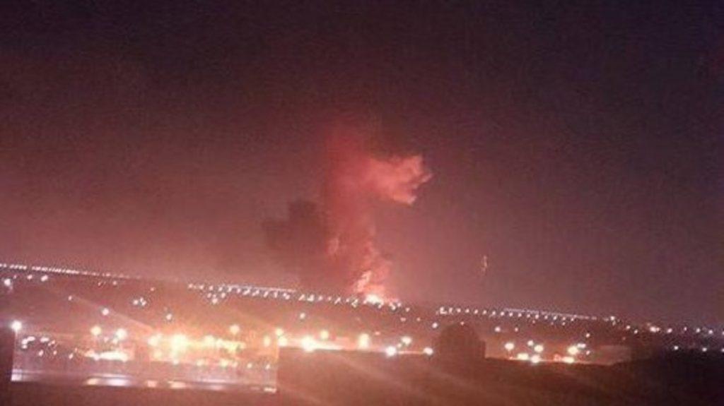 انفجار خزاني وقود خارج مطار القاهرة الدولي