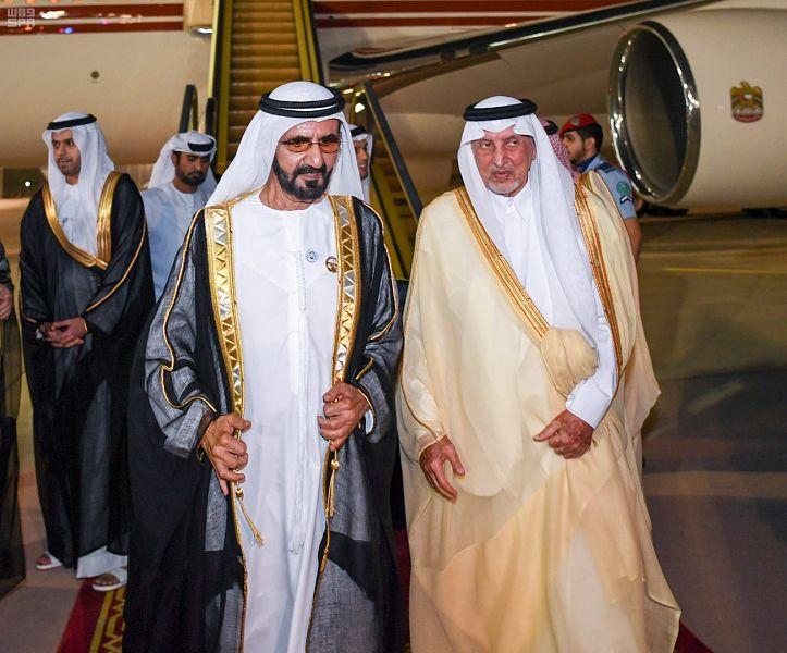 الشيخ محمد بن راشد يصل جدة