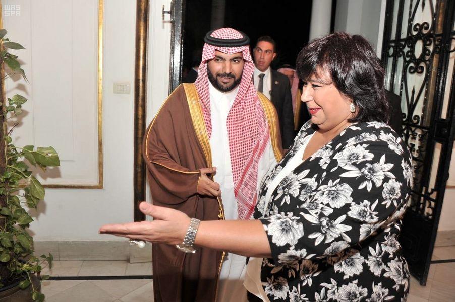 الأمير بدر بن عبدالله يلتقي وزيرة الثقافة المصرية