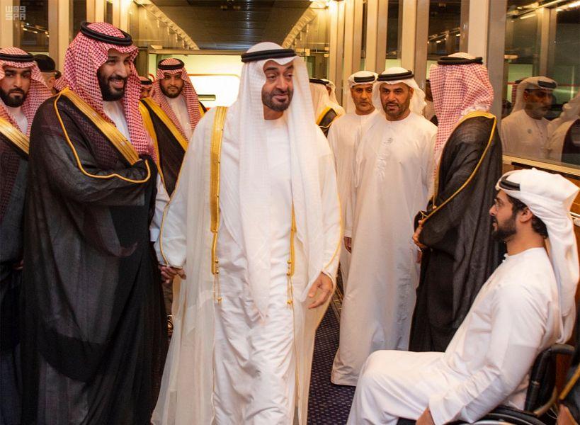 الأمير محمد بن سلمان يستقبل ولي عهد أبو ظبي