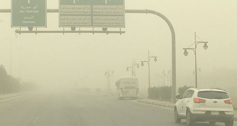 المرور يوجه نصائح للقيادة أثناء الغبار