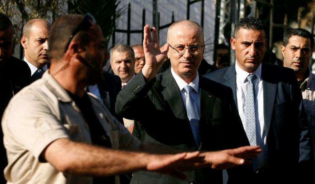شاهد.. استهدف موكب رئيس الوزراء الفلسطيني بغزة