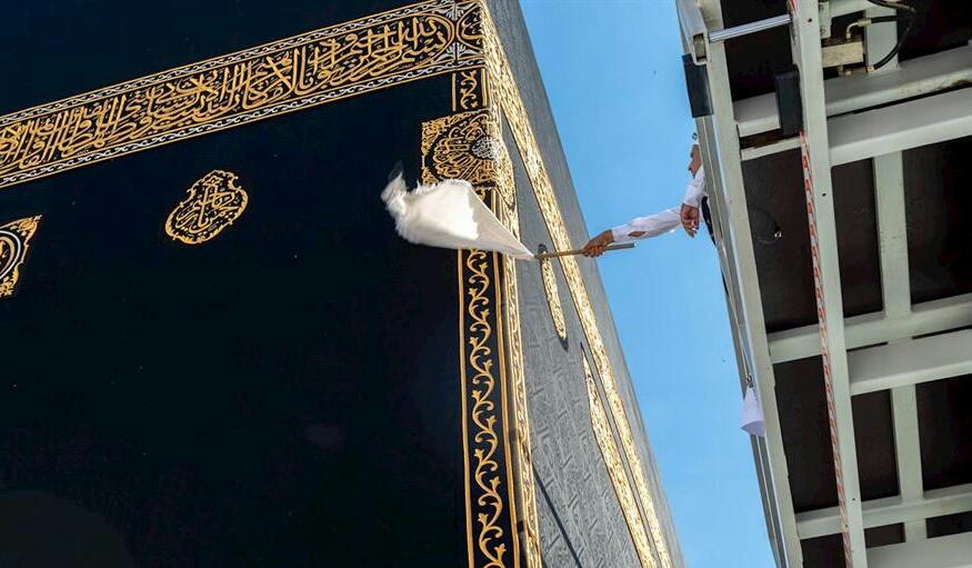 """شاهد.. """"شؤون الحرمين"""" تكشف عن خطتها لمكافحة الحشرات بالمسجد الحرام وساحاته"""