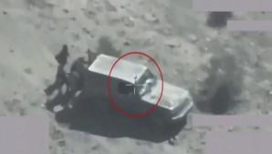 شاهد.. لحظة استهداف التحالف عناصر حوثية وأسلحة في صعدة وحجة