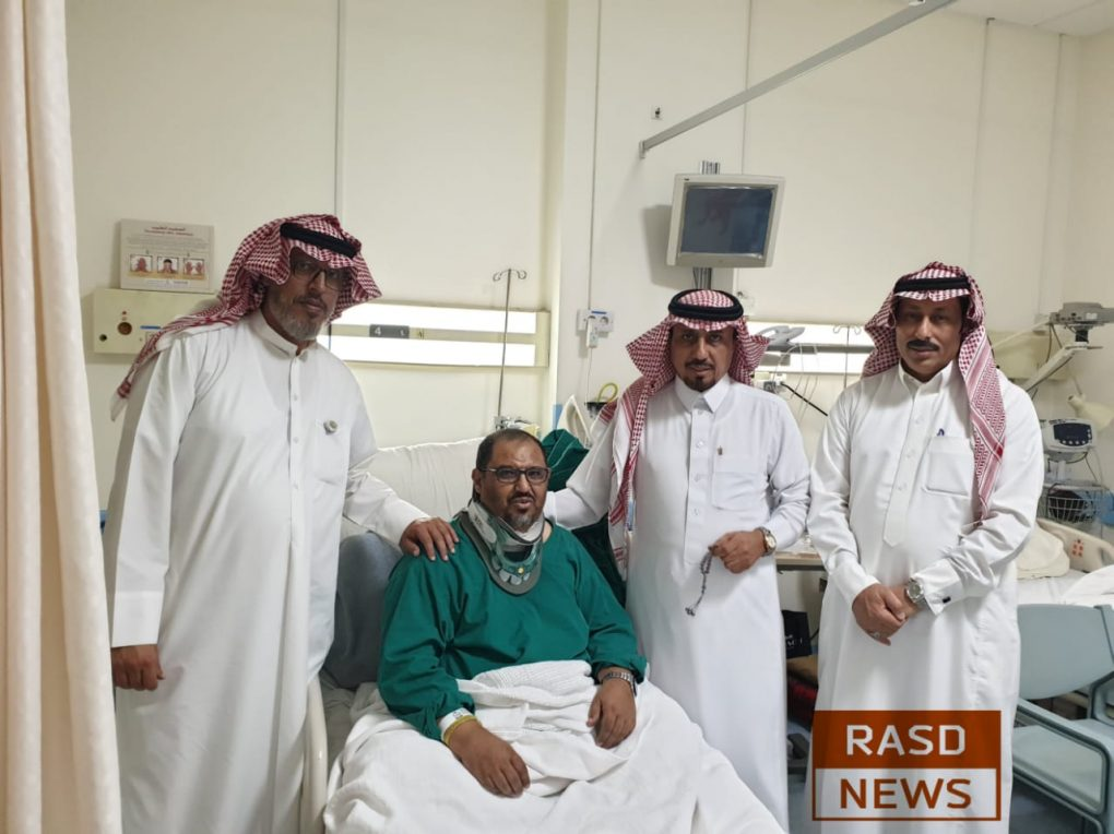 الزميل الغامدي يغادر مدينة الأمير سلطان الطبية