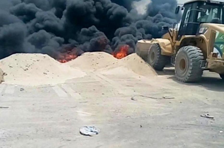 توجيه من أمانة مكة بشأن الحرائق المتفرقة في العوالي
