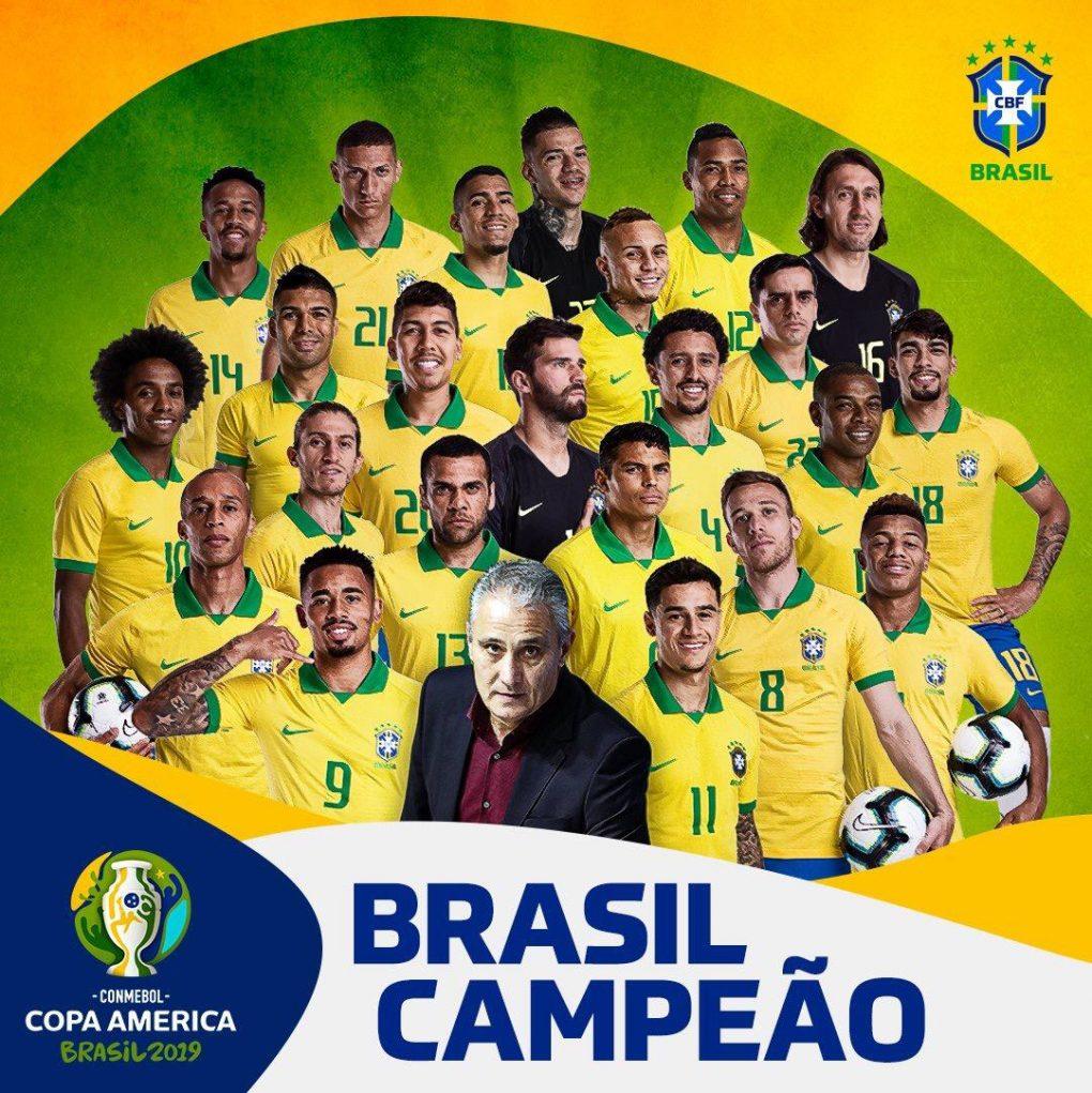 للمرة التاسعة البرازيل تحقق كوبا أمريكا 2019